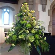 Delivery of funeral flowers in Saint John